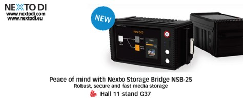 Nexto_Nsb-25_Eu NextoDI to show new NVS25B Storage Bridge at IBC.