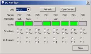 USBI2CSPIGPIO Interface Adapter