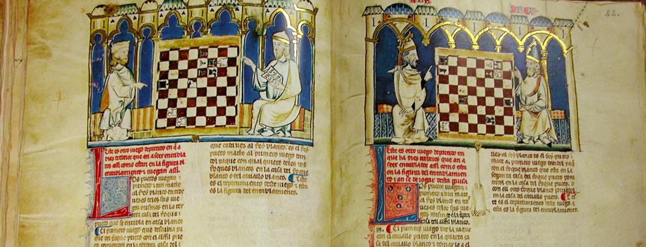 libro antiguo ajedrez