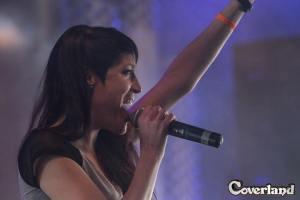Alaniz on stage