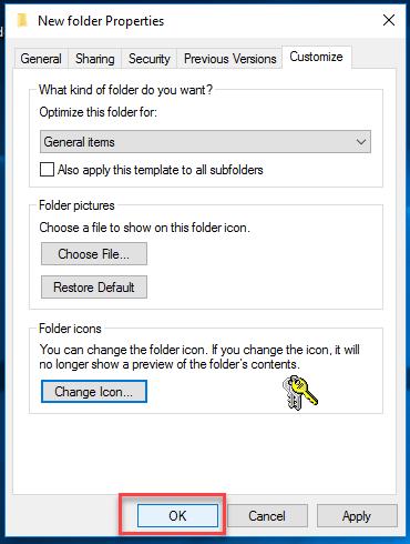 Change Folder icon Step 4.