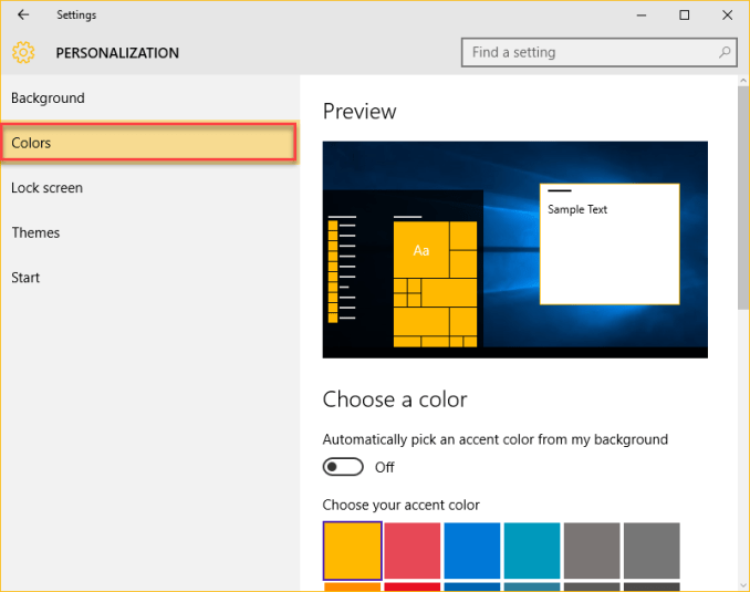 windows 10 tips-Colorize The Start Menu.
