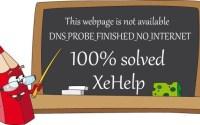 Error DNS Probe Finished No Internet