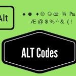 ALT Codes Or Shortcut