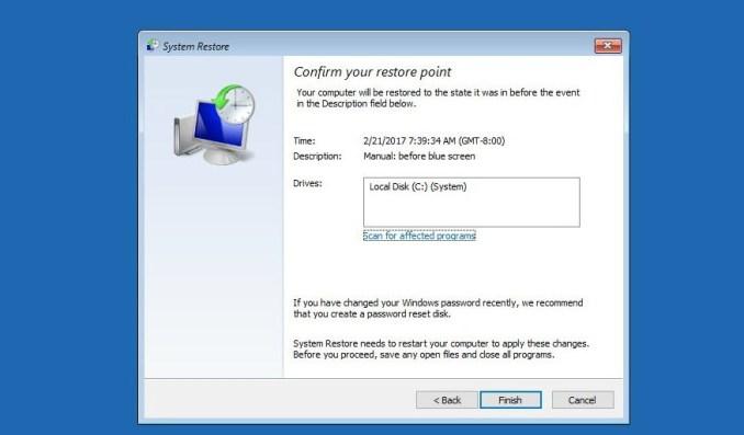 Click Next - Blue Screen Windows 10