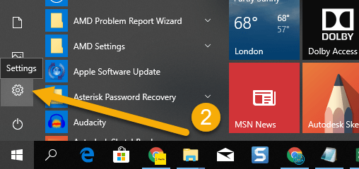 How To Uninstall Apps on Windows 10 - Step 2 Click Settings