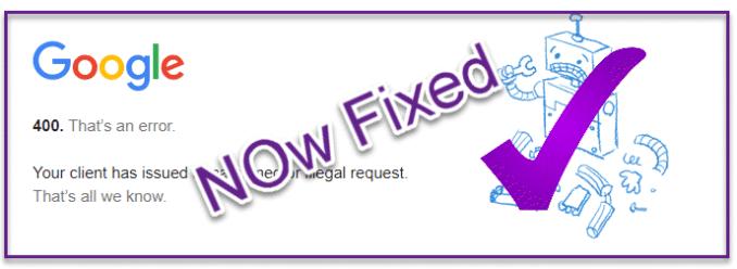 YouTube Error 400 - Fixed Now