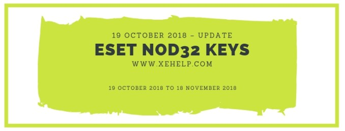 Eset Nod32 Keys 19 October 2018