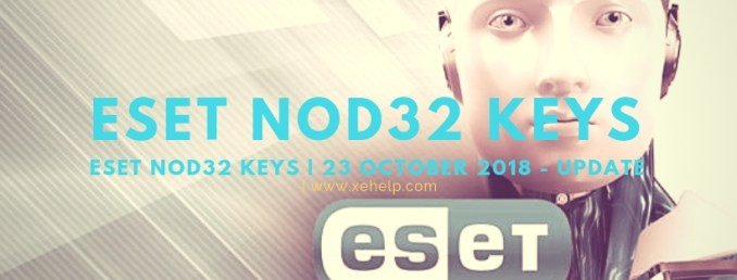 Eset license key 23 October 2018