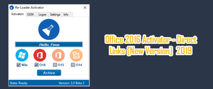 Office 2016 Activator - Direct Links [New Version]  2019