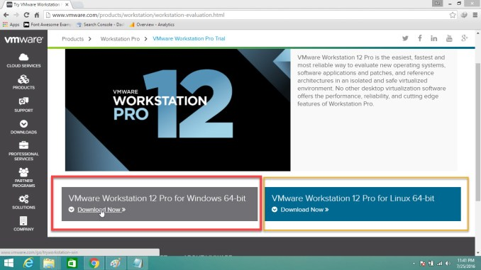 How to Download VMware Workstation 12