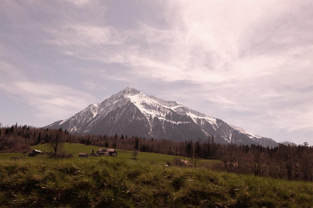Landschaft aus dem Zug