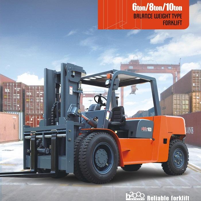 Xe nâng hàng 6-8-10 tấn chui container