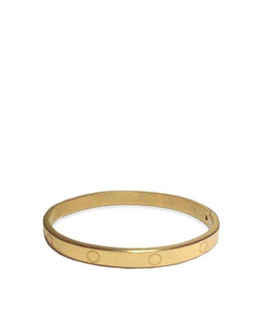 Bracelet rigide en métal avec charnière – doré