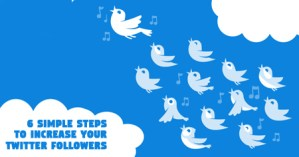 HOW TO INCREASE YOUR TWITTER FOLLOWING WITH 6 SIMPLE STEPS