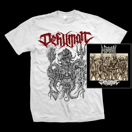 "MASTER / DEHUMAN ""Decay into Inferior Conditions"" LP+CD + DEHUMAN ""Morbid Sun"" T-SHIRT (male)"