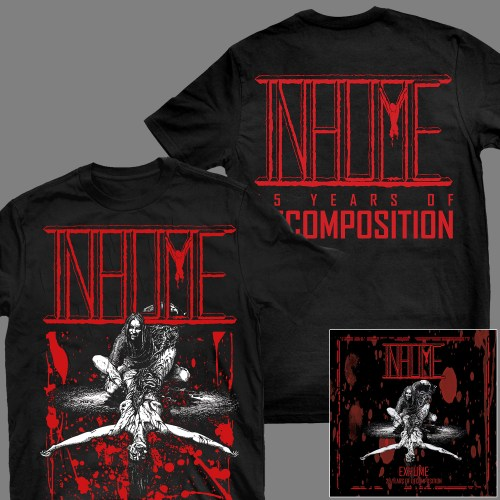 "INHUME ""Exhume: 25 Years of Decomposition"" CD + T-SHIRT"