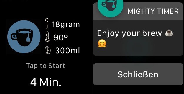 mighty timer apple watch screenshots