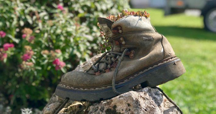 Wanderschuh als Blumentopf