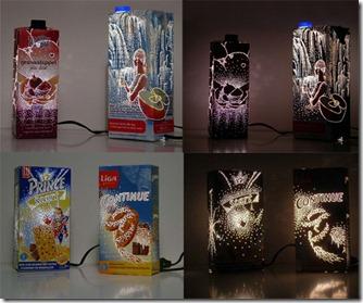 Lámparas Divertidas y Reciclables.