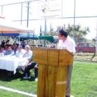 Inaugura patronato obras deportivas en Huajuapan