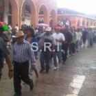 CNTE y Organizaciones marchan y toman Palacio de Huajuapan