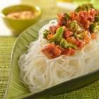 Receta del día; Fideos de arroz con brócoli