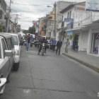 Escuelas de la UABJO marchan en Huajuapan por más presupuesto