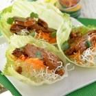 Receta del día; Tacos de lechuga de pollo dulce