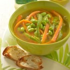 Receta del día; Sopa de verduras con frijoles de soya