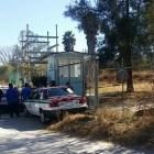 Taxistas de Xochixtlapilco toman rastro y planta de tratamiento por conflicto del transporte