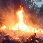 Se registra incendio en zona de conflicto entre Zimatlán y Nopalera