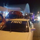 Taxistas del FNIC -CTC bloquearon salida de ambulancias en recinto ferial