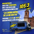 """23 y 24 de Julio """"La Cabina Móvil de La Mejor FM"""""""