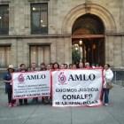 Docentes del CONALEP se manifestaron en Palacio Nacional