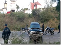Seguridad Pública Se registra percance vehicular en la agencia Vista Hermosa