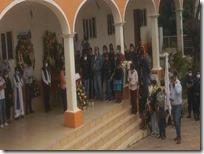 Dan último adios al presidente de San Simón Zahuatlán