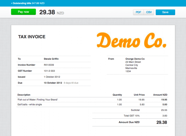 xero invoice templates. running a small business xero saves you, Invoice templates