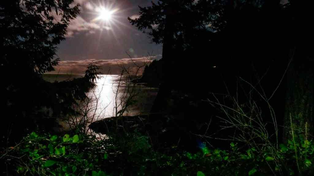 Moonrise Over the Strait of Juan de Fuca