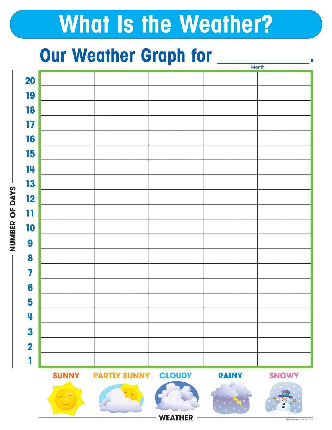 Free Printable Weather Graphs For Kindergarten Throughout