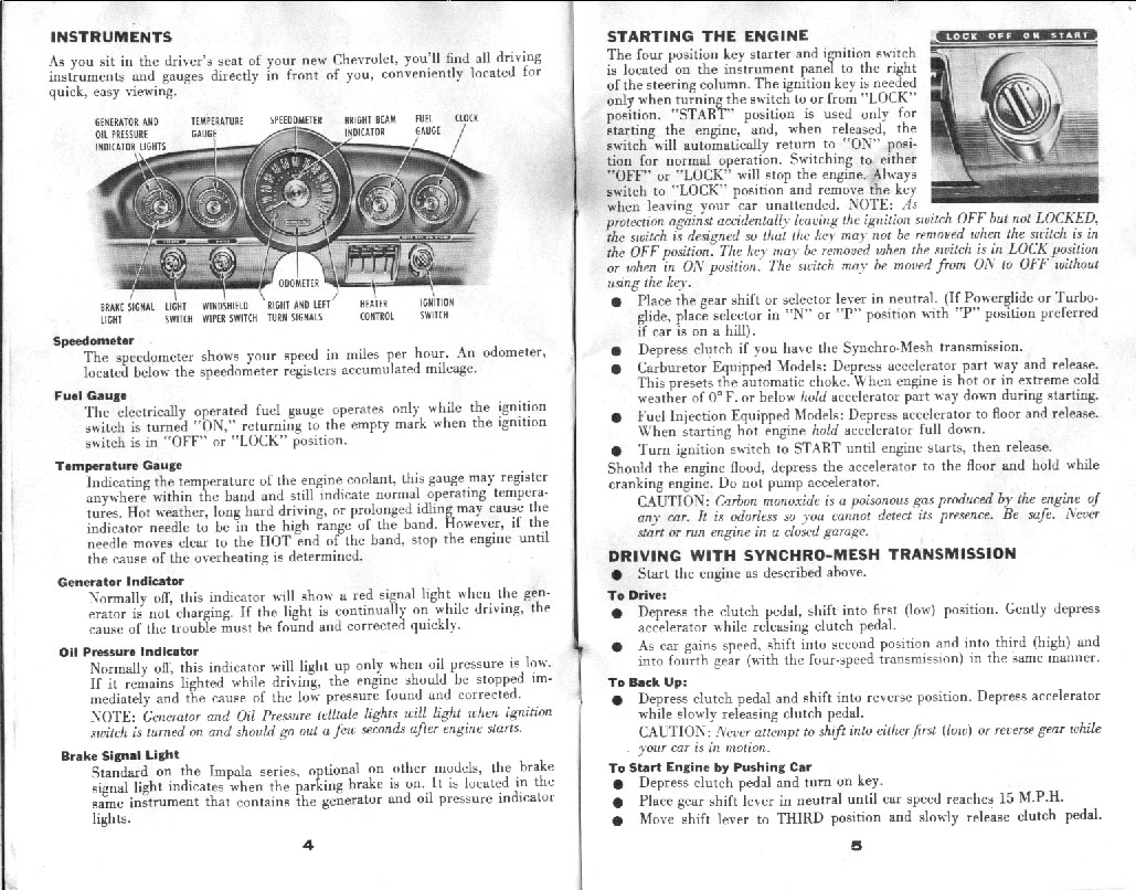 Chevrolet Owners Manual 4