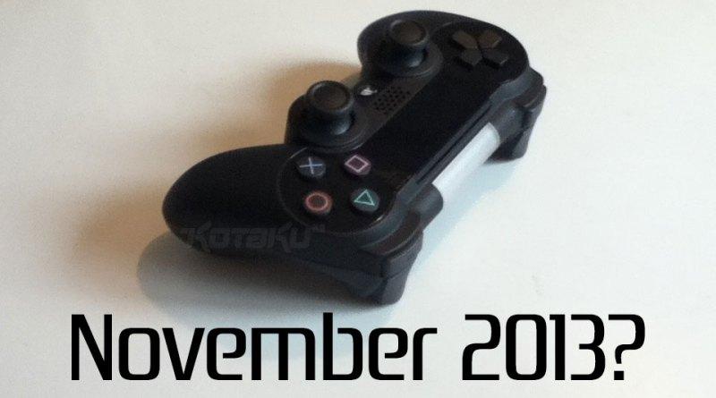 Playstation 4 november 2013