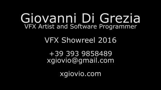 VFX Showreel 2016