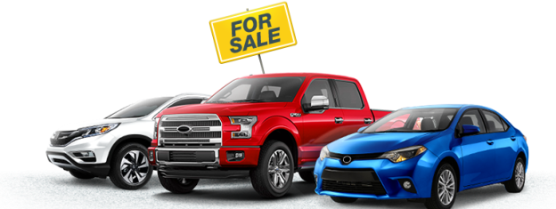 3 cars on display for sale
