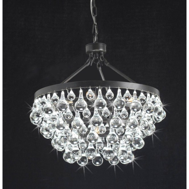 Modern Style Glass Crystal 5 Light Luxury Antique Bronze Chandelier 19 Hx17