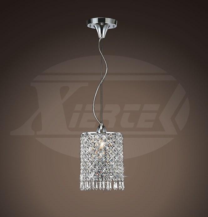 Renesmee 1 Light Sparkle Shine Crystal Mini Pendant Round Chrome Chandelier 13 Hx7