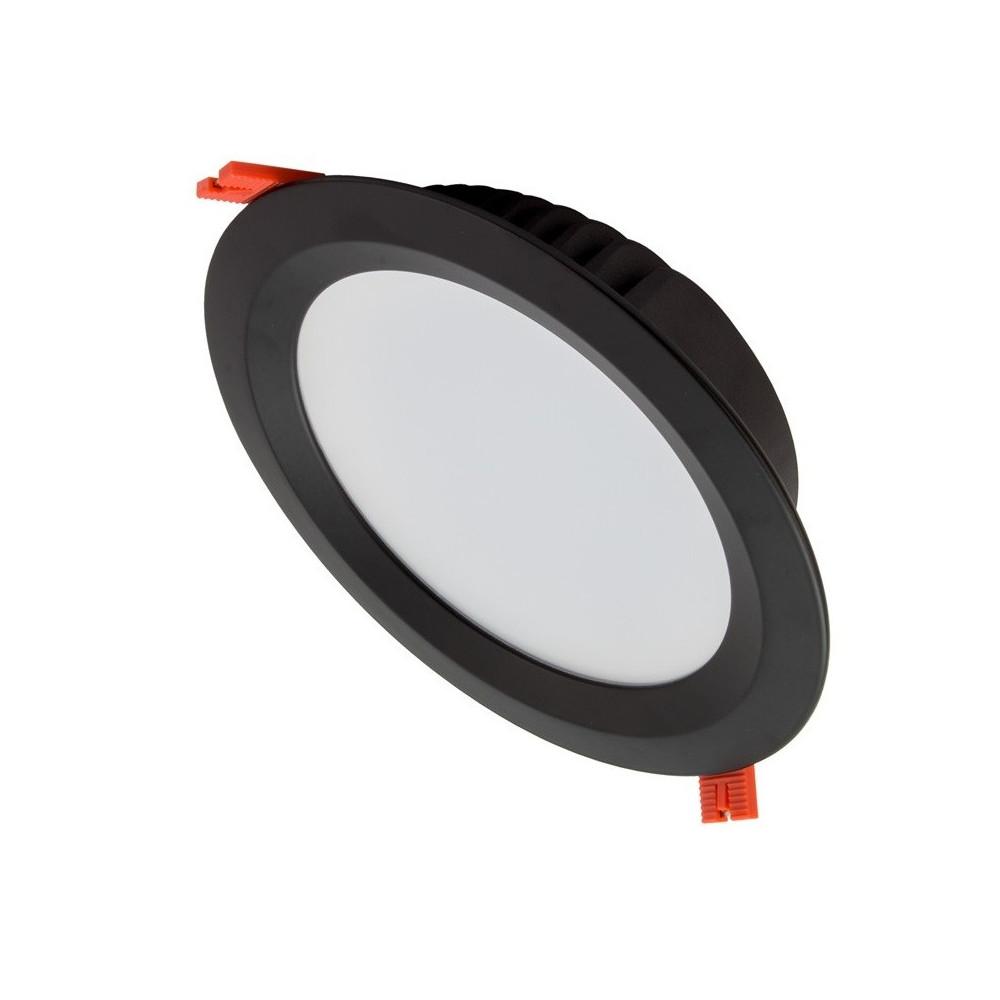 spot downlight rond noir led encastrable 5700 lumens blanc encastre 210mm