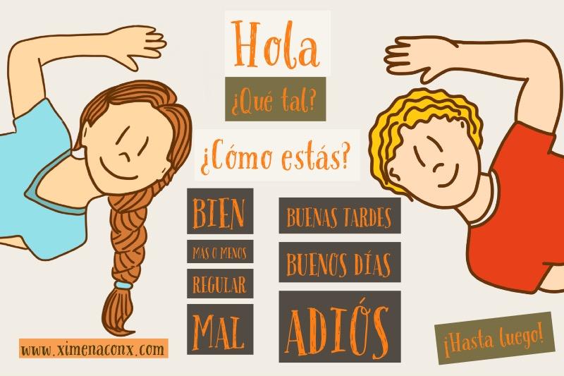 Clase Lista de Español, Saludos y Despedidas • Ximena con X