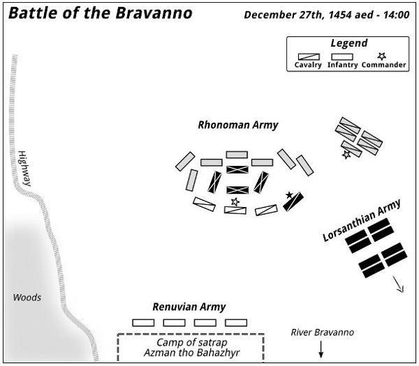 Battle of the Bravanno — 14:00 - 1455-12-27 aed