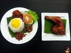 Nasi Lemak Crispy Fried Chicken